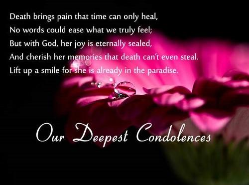 Sympathy Quotes Condolence