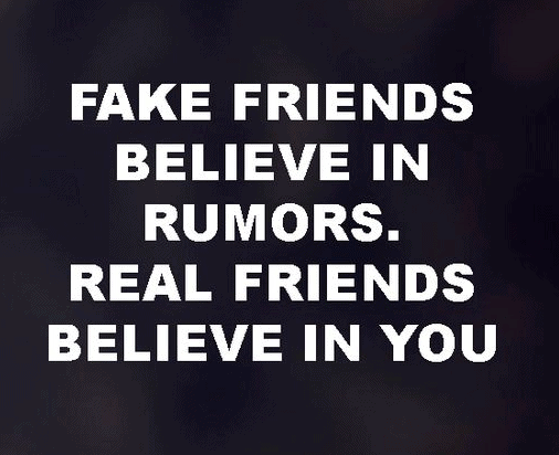 Quotes on fake friends. Rumors