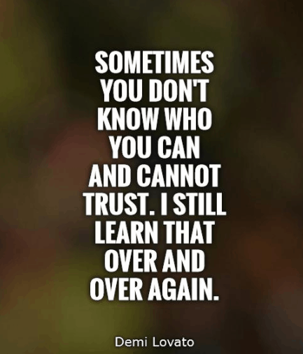 Quotes On Trust And Trust Issues Sayings