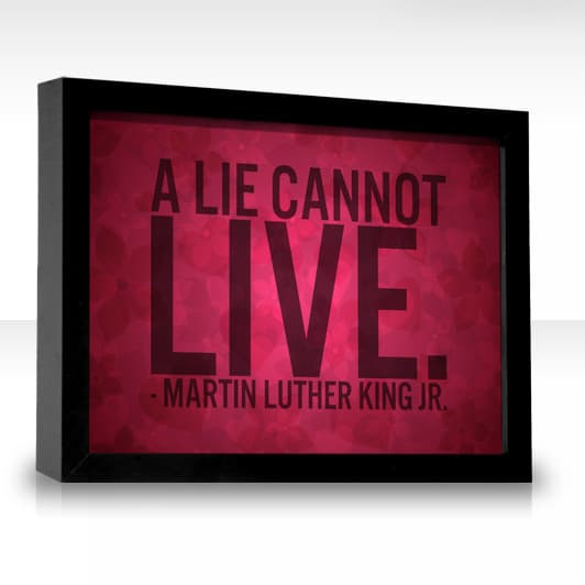 martin luther king jr quote on lie