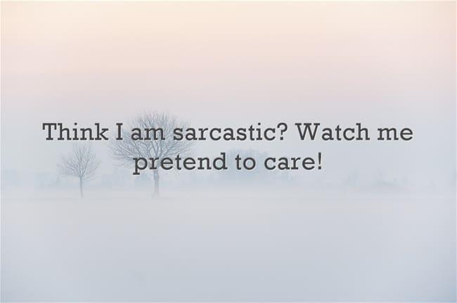sarcastic quote
